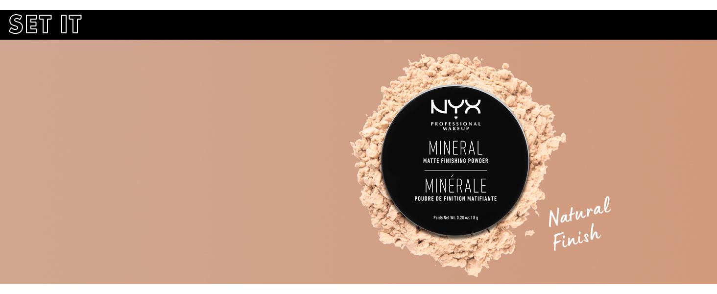 nyx mineral finishing powder face setting powder