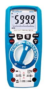 Peaktech True Rms Digital Multimeter For Electricians With 60000 Counts Professional Hand Multimeter For Electric Lines TÜv Gs Voltage Meter Continuity Tester Cat Iii 1000v Business Industry Science