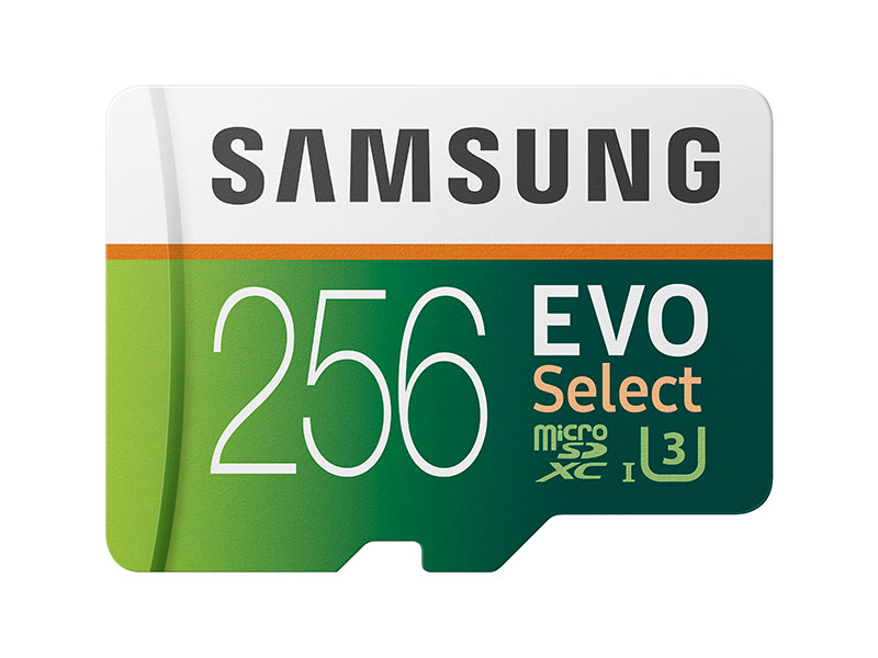 Samsung 256GB MicroSDXC EVO Select Memory Card