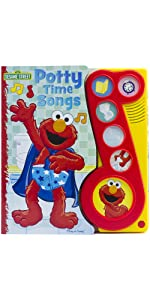 Sesame Street - Elmo Potty time Songs Little Music Note Sound Book