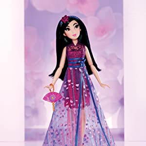 Amazon Com Disney Princess Style Series Mulan Doll In Contemporary Style With Purse Shoes Toys Games