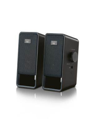 Altavoces estéreo 2.0 de 6 Vatios para su ordenador, portátil, smartphone, tablet y un reproductor de mp3