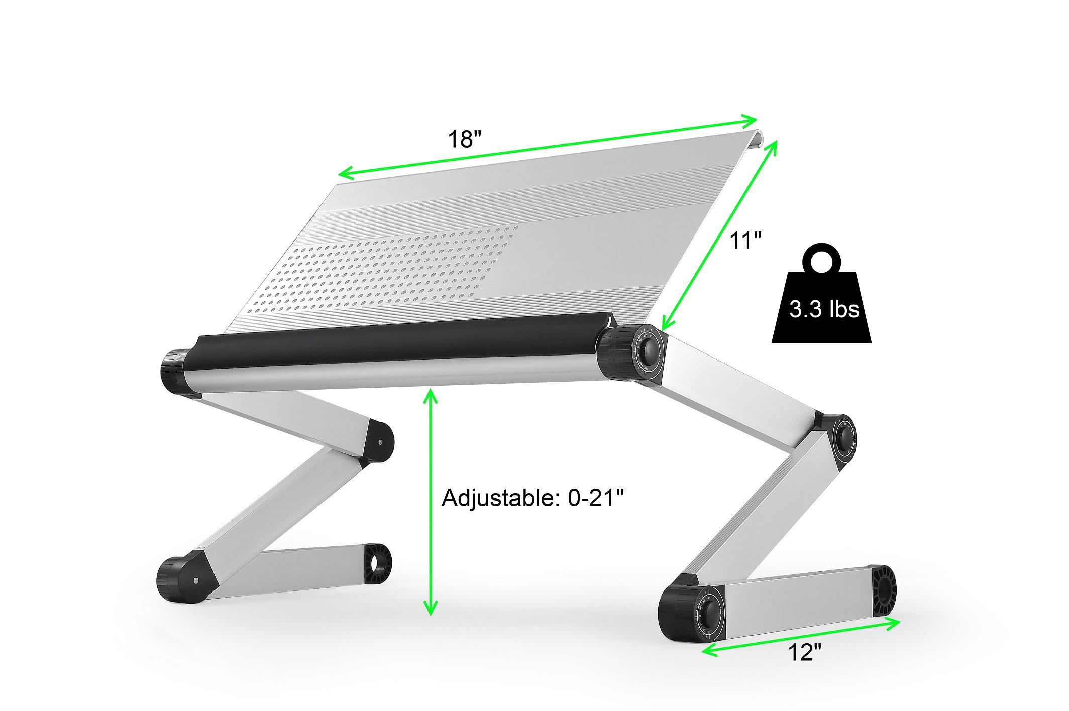 uncaged ergonomics adjustable height angle reading
