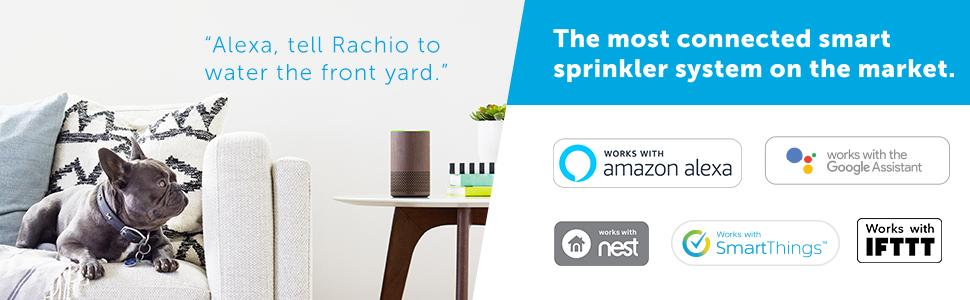 Rachio Smart Sprinkler Controller, 8 Zone 2nd Generation, Works with Amazon  Alexa