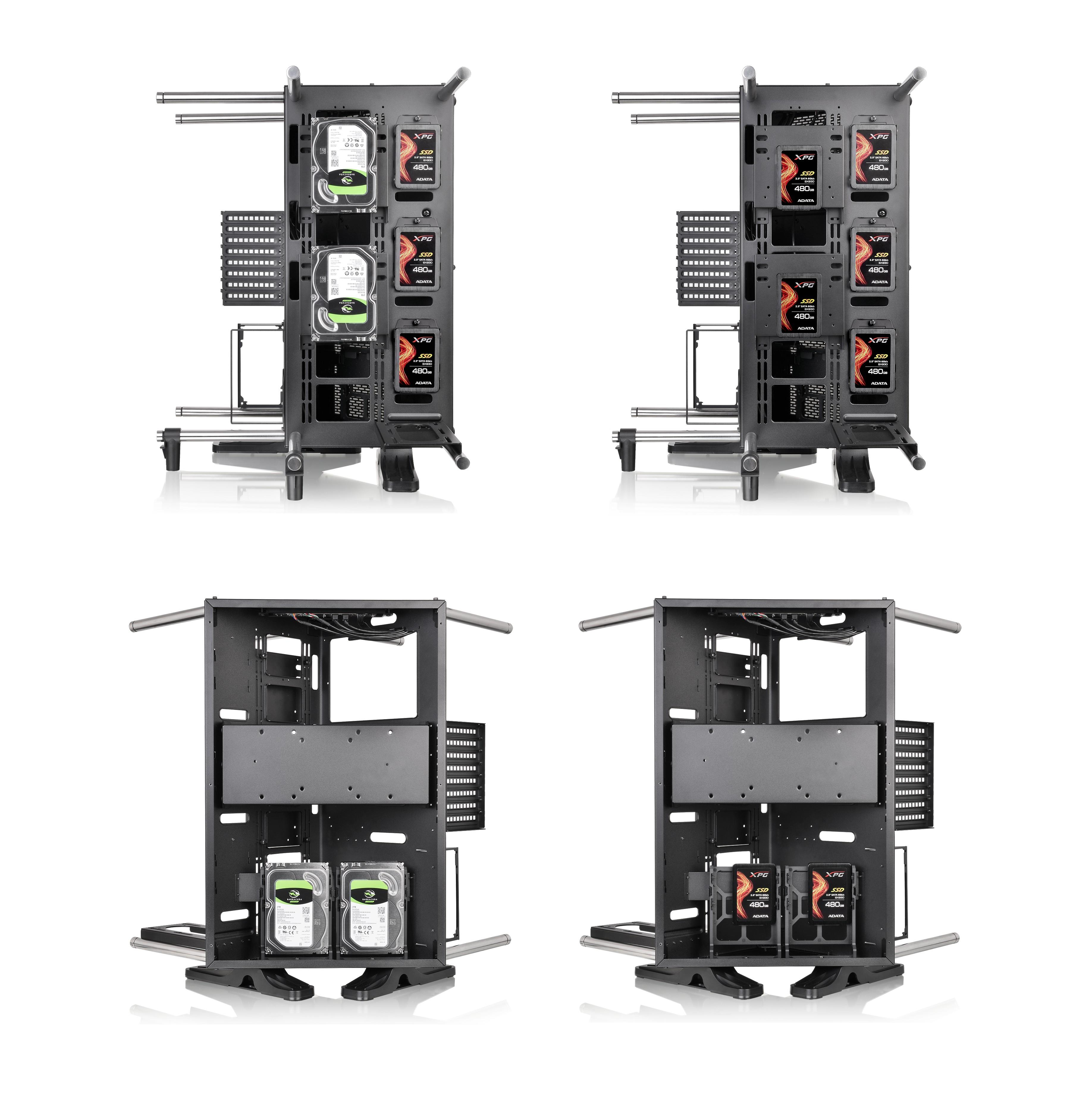 Mua Sn Phm Thermaltake Core P90 Tempered Glass Black Atx Mid Tower View Larger