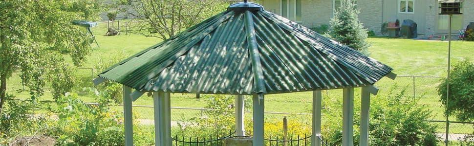 ONDURA 903 Corrugated Asphalt ((5 Pack) Roofing, Red