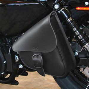 Black Willie and Max Motorcycle Swingarm Saddlebag