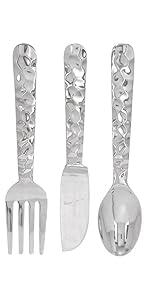 Deco 79 Cutlery Wall Decor Aluminum Utensil