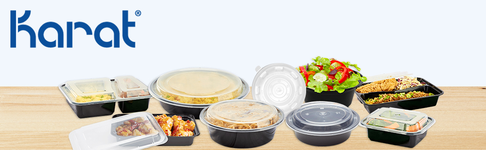 karat PP injection molded containers,hinged food containers,Paper food buckets,round containers