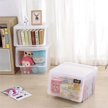 HOUZE - Stackable Sliding Lid Drawer (Large): Transparent Design