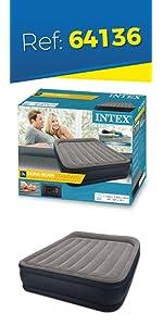 Intex 64136 - Colchón hinchable Dura-Beam Standard Deluxe ...