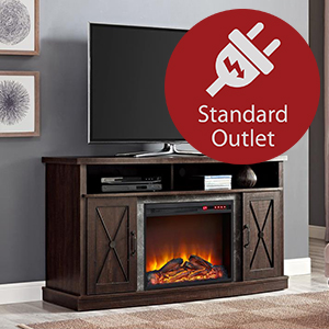Ameriwood Home Manchester Electric Fireplace Tv Stand For Tvs Up To 70 Black Furniture Decor