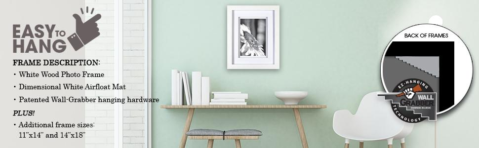 Amazon.com: Gallery Solutions 11x14 White Wood Wall Frame with ...