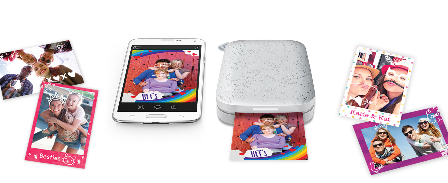 pocket-size sprocket app stickers Bluetooth 5.0 sleep mode party personalized LED light customize