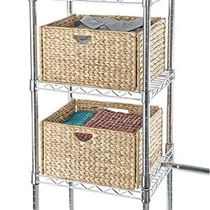 sevilleclassics wicker woven water hyacinth fabric grass natural jute basket bin container box