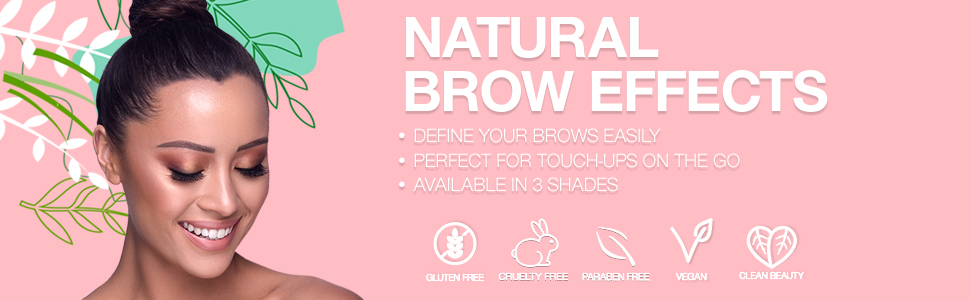 palladio natural brow effects brows fedine touch up on the go travel purse