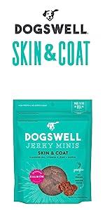skin coat flaxseed oil vitamin e zinc biotic grain free protein small treats salmon fish treat dog