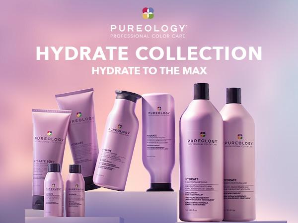 pureology hydrate moisturizing shampoo conditioner dry hair
