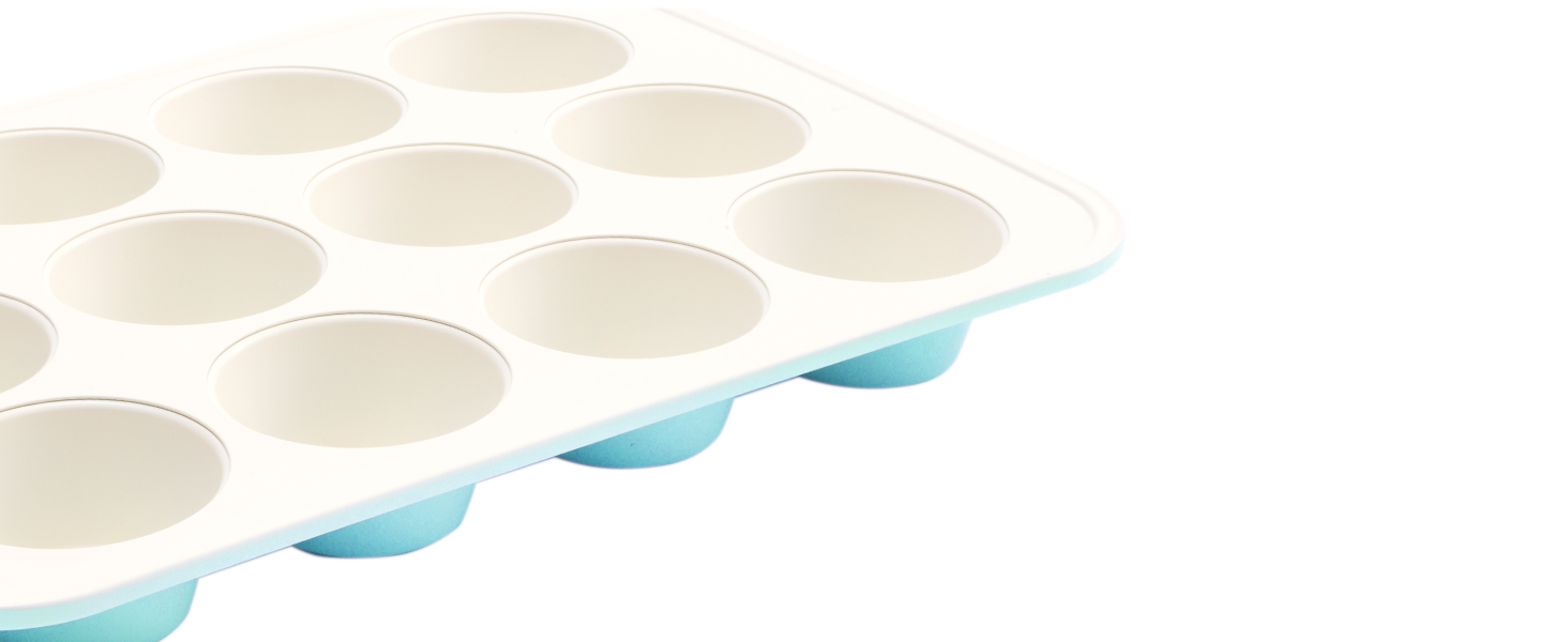 GreenLife, healthy ceramic nonstick, bakeware, muffin pan, durable cooking, versatile, non stick
