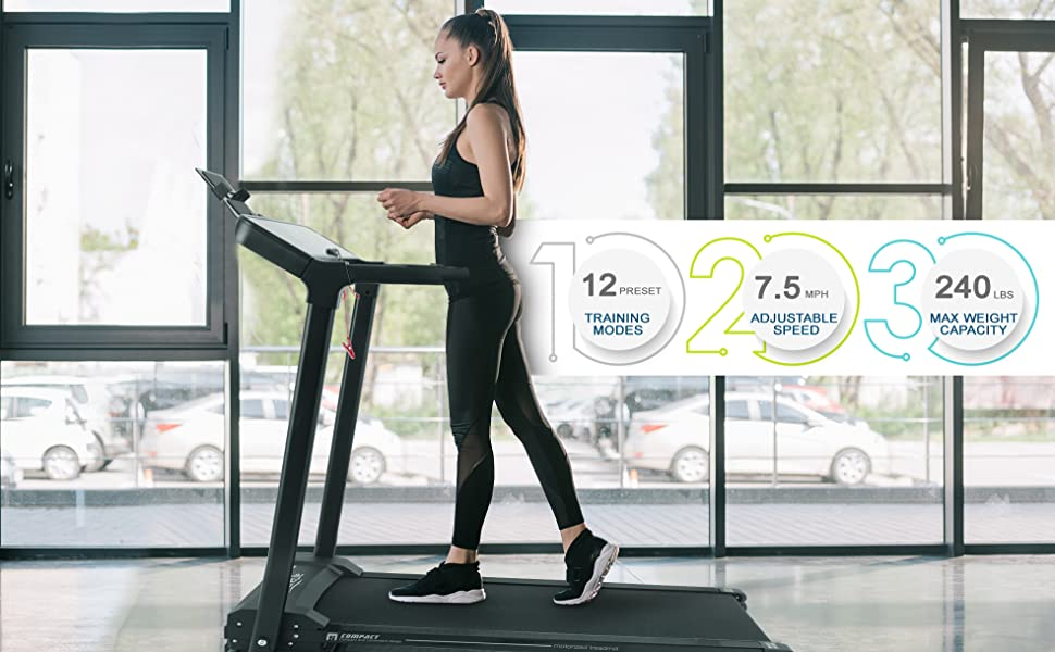 Smart Electric Folding Treadmill;Easy Assembly Fitness;Motorized Running;Jogging Exercise;Machine;