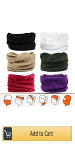 Multifonctions Sweatband Neck Gaiter Solide Couleur Stretchable Balaclava pour La P/êche Yoga Magic Head Scarf
