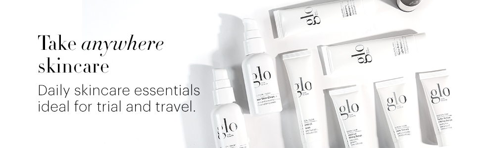 glo skin beauty skincare professional sensitive aging acne oily dry combination set travel kit try