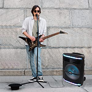 Portable Bluetooth PA Speaker System;600W Bluetooth Speaker Portable;PA System;Rechargeable Battery;