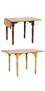 drop leaf table,small spaces,kitchen,apartment dining table,apartment size,oak,traditional,country