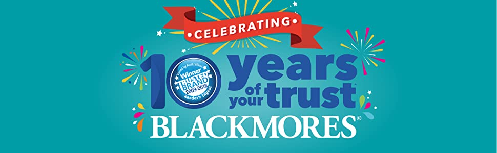 Blackmores Most Trusted Brand for 10 Years!