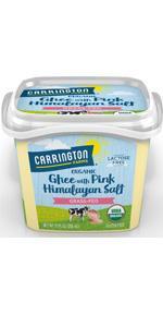 Carrington Farms Organic Ghee Clarified Butter with Pink Himalayan Salt