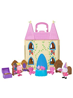 peppa pig;princess playset;toys;figures;playsets