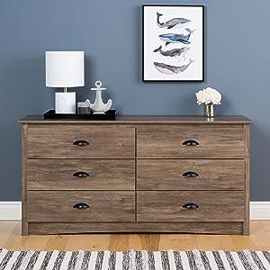 Salt Spring 6 Drawer Dresser, Drifted Gray