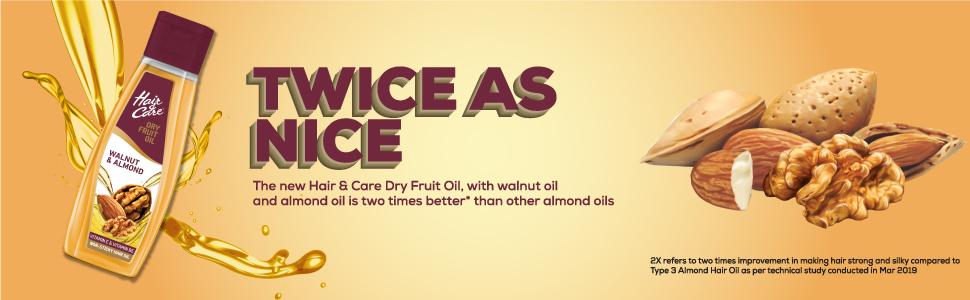 hair and care dry fruit oil,waulnut oil,almond oil,bajaj almond oil,hair oil,non sticky hair oil,oil