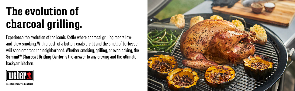grill center, charcoal, sear, roast, bake, smoke, smoker, roaster, outdoor grill, gas ignition