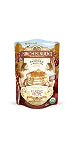 ... Organic Pancake and Waffle Mix, Classic Recipe by Birch Benders, Whole Grain, Non ...