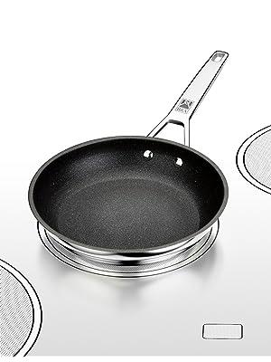 BRA Connect - Sartén 26 cm, aluminio fundido con antiadherente Profile y tecnología Bi-Clad, apta para todo tipo de cocinas incluida inducción, libre ...