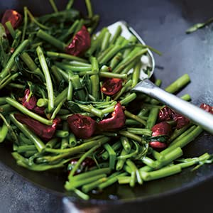 Stir-fried Water Spinach with Chiles and Sichuan Pepper