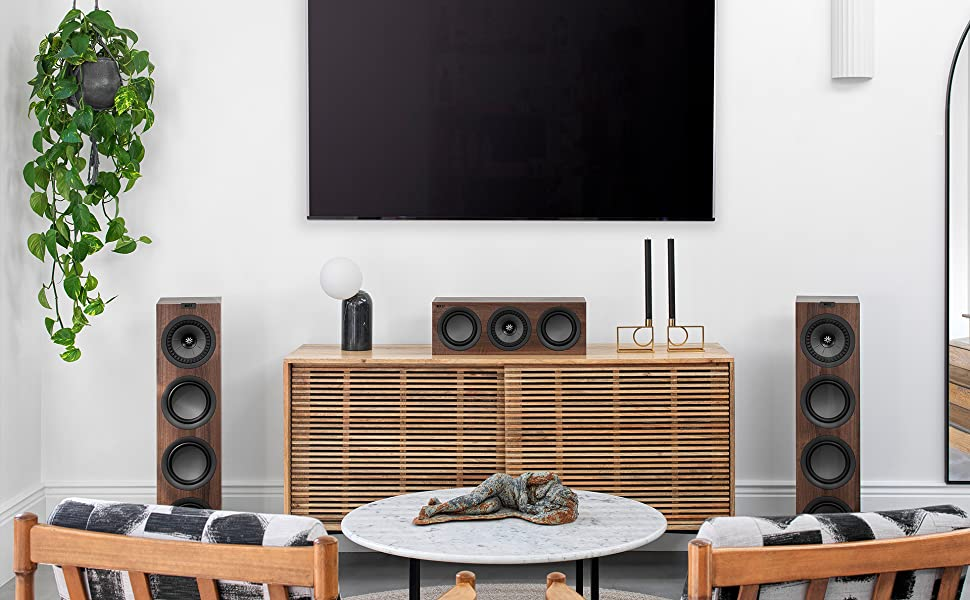 KEF Q550 floorstanding speakers for music and movies home theater
