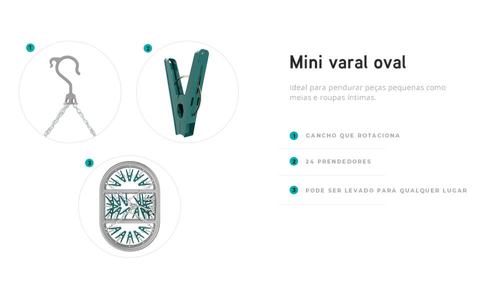 LAV6803, PRENDEDOR OVAL, MINI VARAL