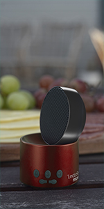 LectroFan Micro2 Red Sleep Sound Machine Bluetooth Speaker