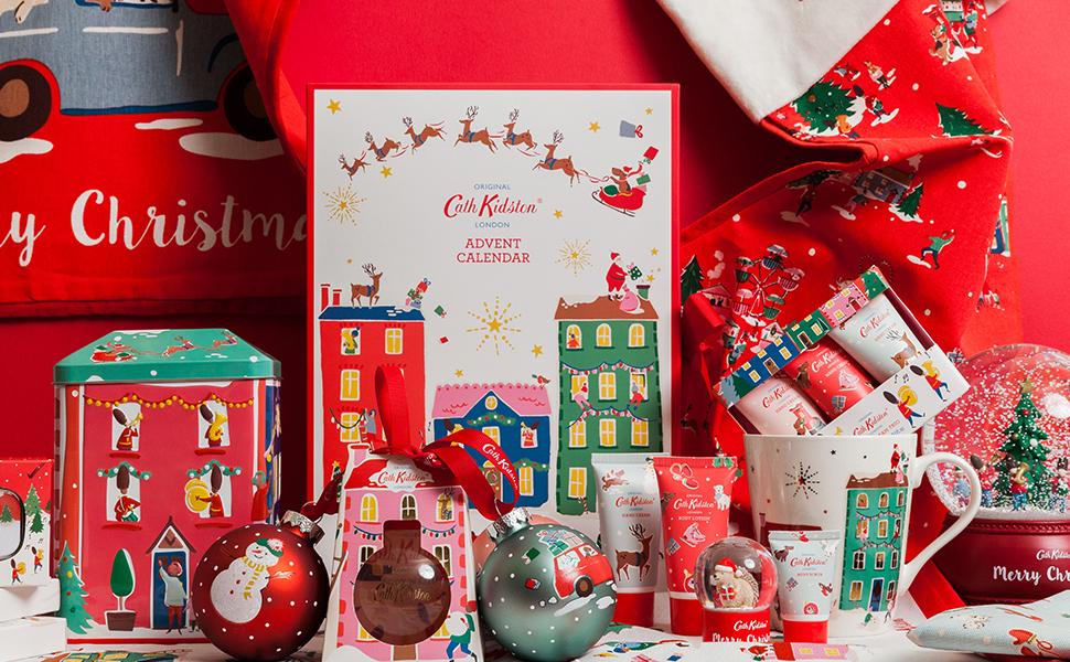 Christmas Beauty.Cath Kidston 2019 Christmas Beauty Advent Calendar Gift Presents With 24 X Bath Body Items