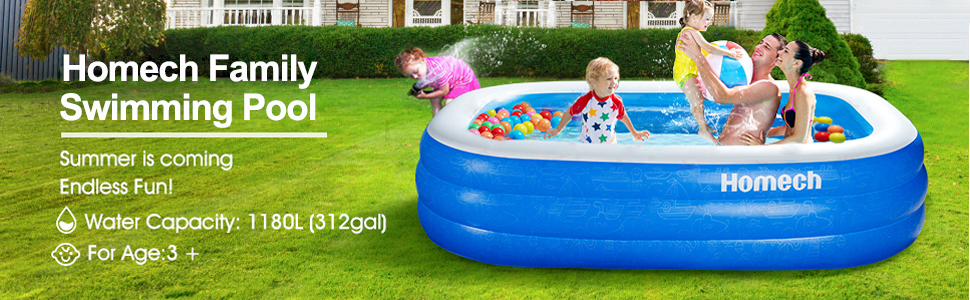 family inflatable pool