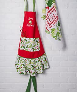 dii cotton christmas dish towels 18x28 set