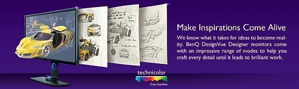 Designer monitor, CAD, CAM, Animation, graphics, Color management, color grading, pantone, calman