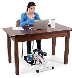 under, desk, elliptical