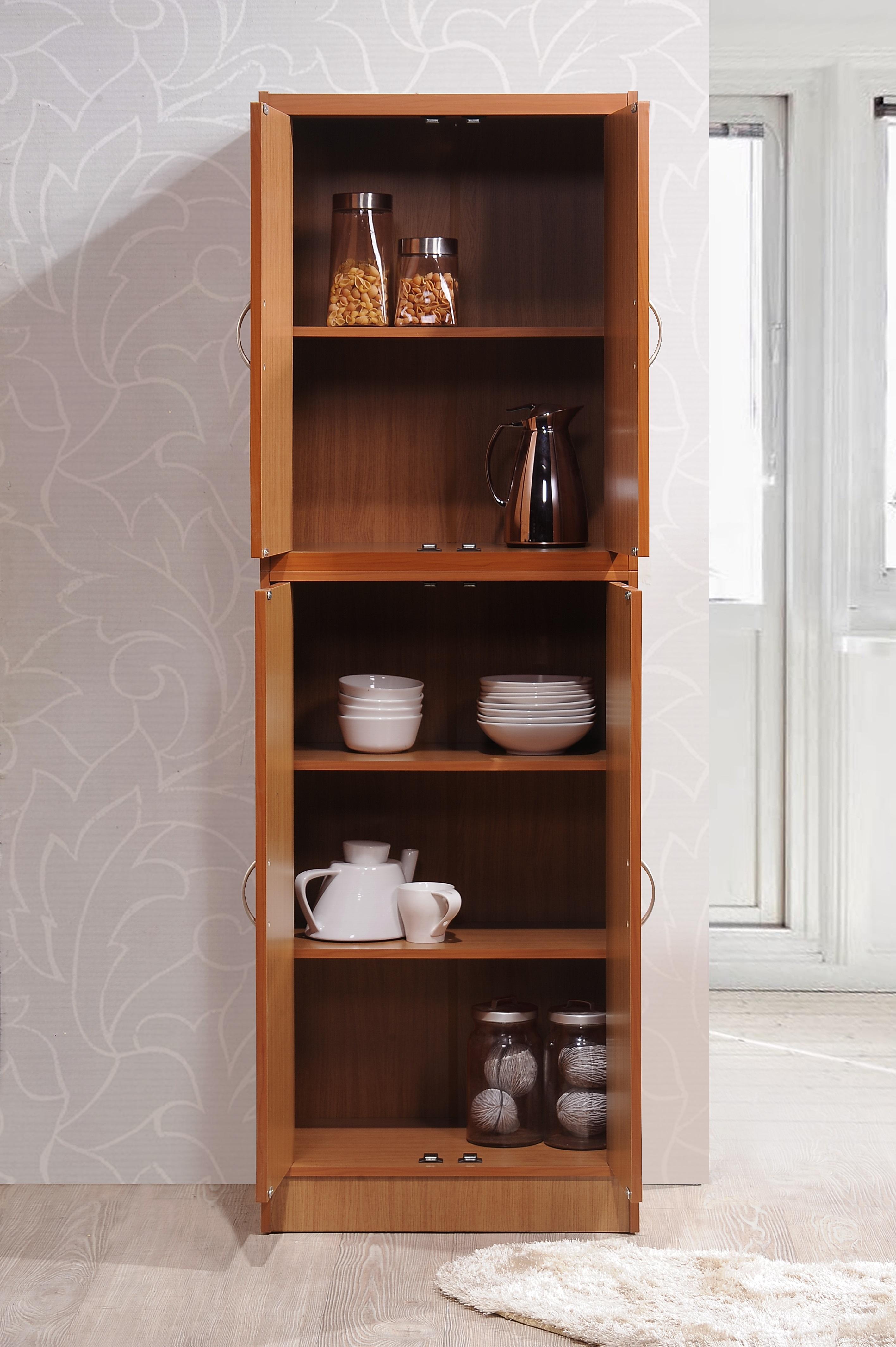 Amazon Com Hodedah 4 Door Kitchen Pantry With Four
