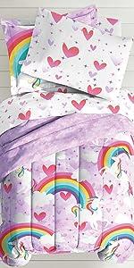 pink purple bedding