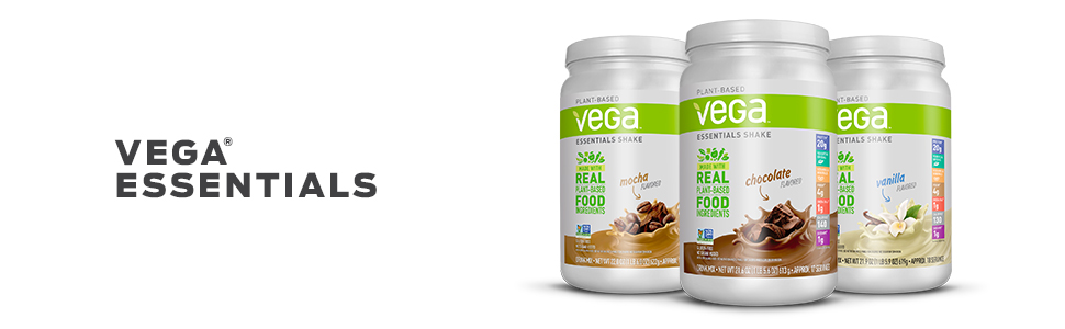 Vega Essentials has the protein, greens, vitamins, minerals you need to start a healthy day.