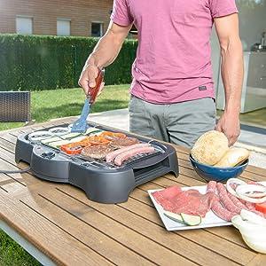 rejilla, cocción, jardín, grill