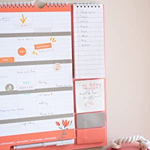Erik Familienplaner Anna Rolskaya 2020//2021 Kalender mit Selbstklebenden Notizzettel